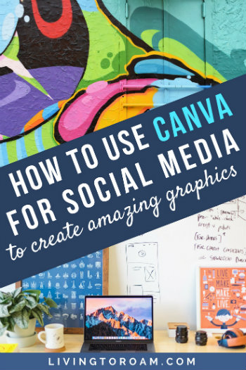 It's becoming harder and harder to get noticed online. There's a different algorithm change every week and attention spans are getting shorter by the second. To combat this, you need to learn how to take your social media and website graphics to the next level - that's why in this post I'm going to teach you how to use Canva | read the full post on livingtoroam.com #canva #socialmedia #learncanva