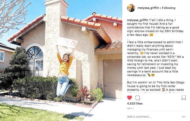 instagram engagement melyssa griffin post