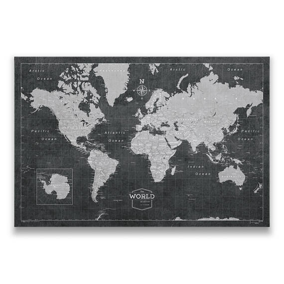 travel gift idea customisable world map