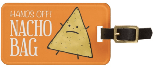 travel gift idea nacho bag tag