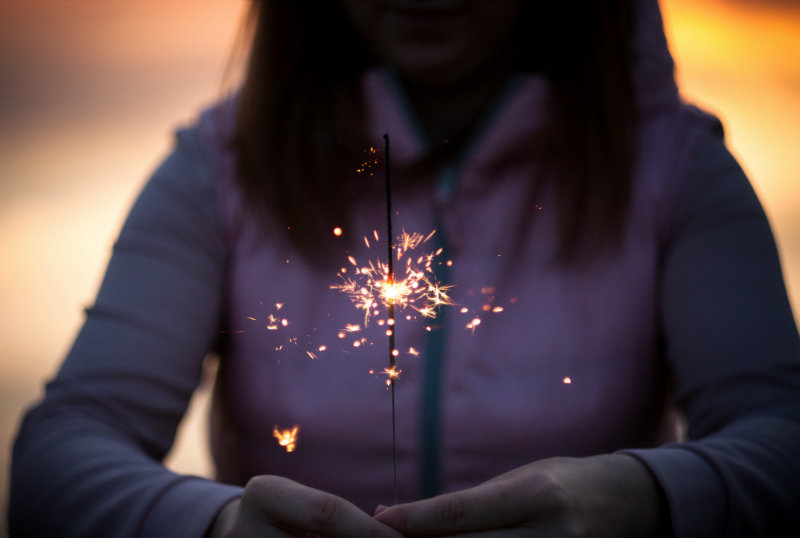 new year's resolution sparkler