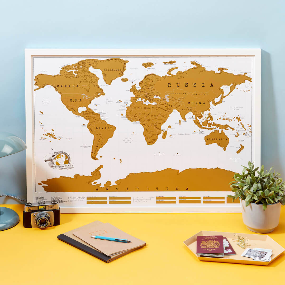 travel gift idea scratch map