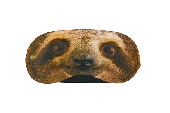 travel gift idea sloth mask